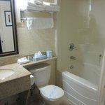 bathroom was clean with good water pressure