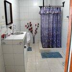 the bathroom of room 8