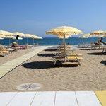 la spiaggia riservata