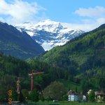 O Jungfrau,topo da Europa visto do Hotel