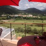view over the village from the restaurant.