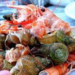 """Ce qui reste du plateau de fruits de mer à """"la fleur de sel"""""""