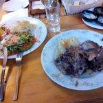 Restaurante, Salmon y Cabrito al horno