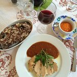 Roasted chicken with wild rice