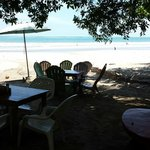 The view from the tables of Playa Sámara