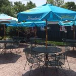 The beautiful patio at Baker Street Grill