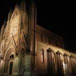 Orvieto Duomo at night