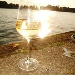 Have a glass of wine by the water