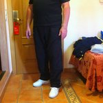Me in clean long trousers which from all accounts is NOT acceptable dress code