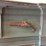 Revolver on the mantel