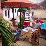 dine al fresco on the front patio