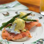 Amazing Breakfast  - Eggs benedict with options of Canadian Bacon or Smoked Salmon.  What a trea