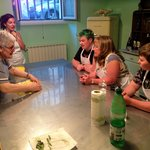 The spacious kitchen where Nonna teaches her craft.