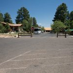 It's a long way to the lobby, baby.  Welcome to the Grand Canyon Lodge.