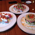Luna roll, sunset roll and tuna tower. Perfection.