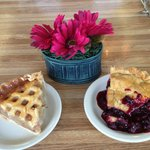 Cold Apple and Warm Marion Berry Pie