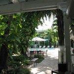 Taken from breakfast nook facing pool