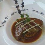 Foie gras with apples
