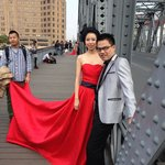 Another bride on the bridge, near the Bund