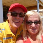 Hubbie and I at Es Port, Cala Ratjada