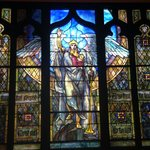Tiffany stained glass archangel Michael