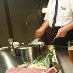 Mesero en teppanyaki