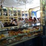 Casa Pasteis de Belem counter service line