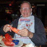 """Sea Monster"" size lobster dinner."