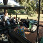 Jenny helping us get all comfortable for the game drive