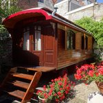 Caravan in garden