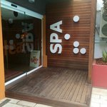 Entrance to the gym and spa
