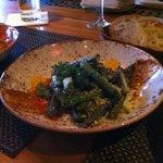 asparagus and fava beans
