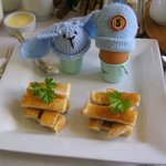 Spoiled eggs with soldiers:)