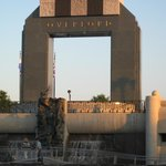 D-Day Memorial at sunset