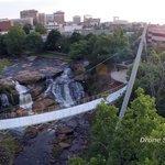 Liberty Bridge from the air taken by drone by Drone South