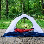 Secluded quiet tent sites