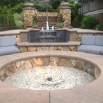 Fire pit at the pool