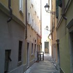 Alleyway leading to apartments
