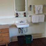 Sink in cabin bedroom