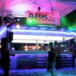 Ark bar dj booth at night