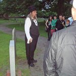 Kevin telling us about the Salem cemetery
