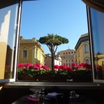 A very nice view from the breakfast table!