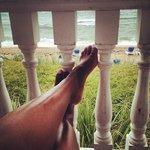 Lounging on the veranda
