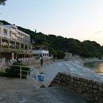 hotel beach and restaurant