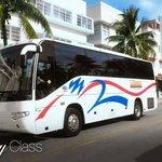 Our tour bus in South Beach.