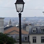 Looking out over Paris from Montmartre