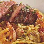 Bistro Steak & Shrimp with Lobster Alfredo