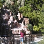 The Wynn Waterfall (and my beautiful wife)
