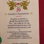 Photo de TAVERNA AL 29