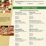 Sorrento's Bar & Pizzeria menu